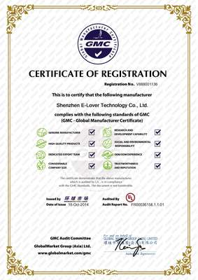 Certificate of Registration - By UL